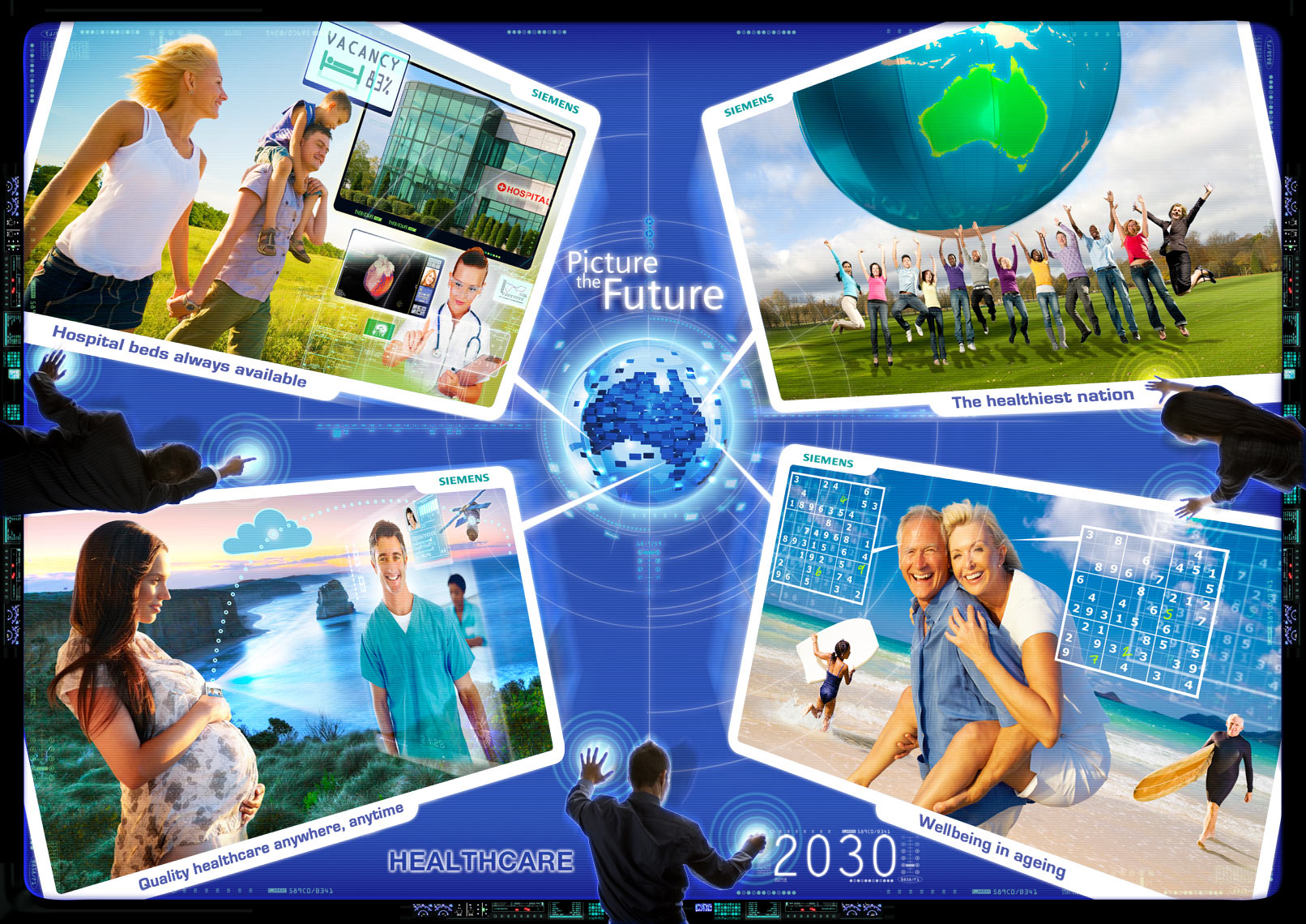 Healthcare Siemens Picture the Future communication design photoshop expert