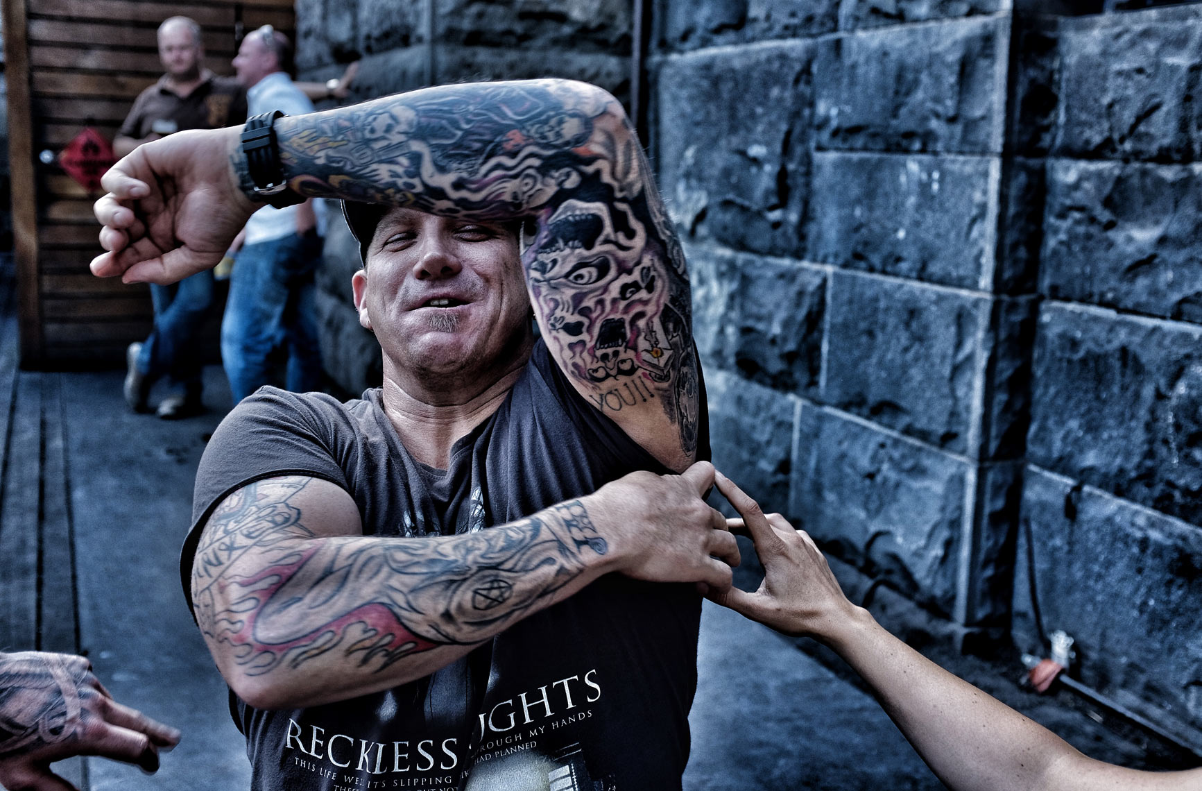 - street portraits by Shane Nagle: Melbourne. Tattoos and fuck yous! shenanigans at Moomba 2014
