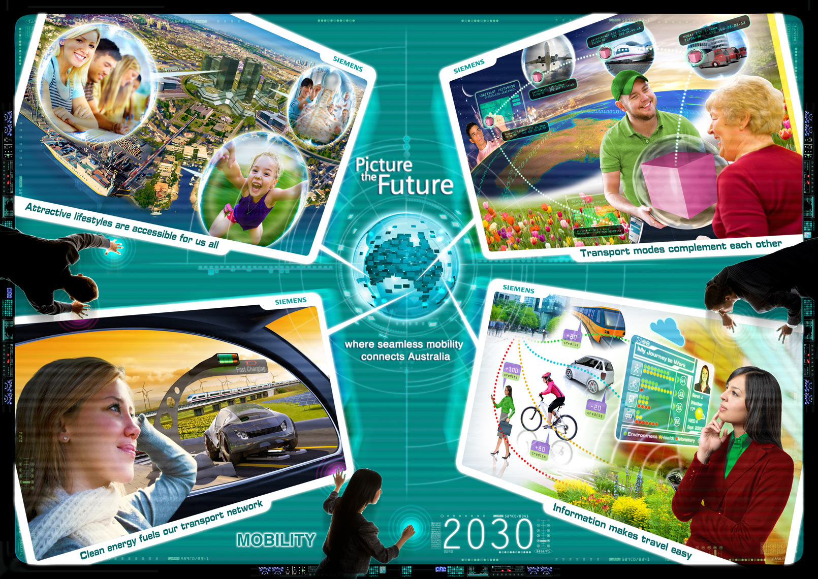 Mobility - Siemens Picture the Future communication design photoshop expert