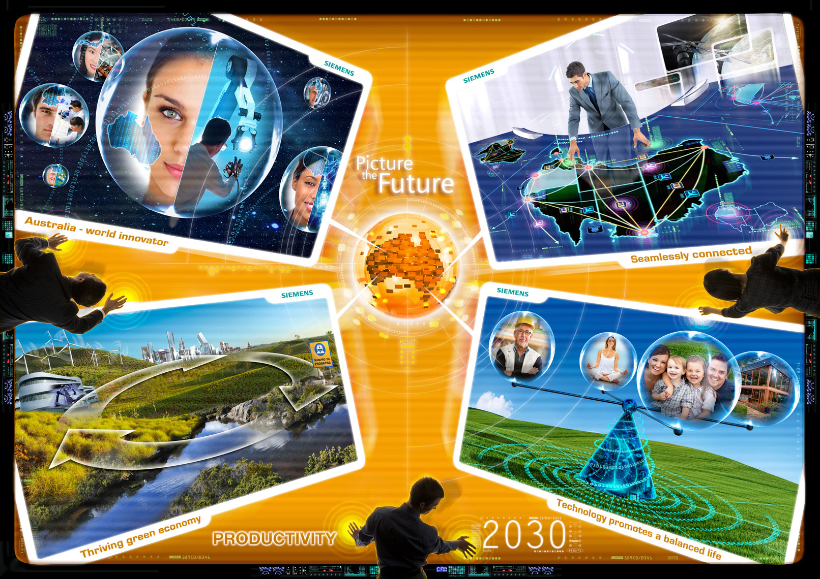 Productivity - Siemens Picture the Future communication design photoshop expert