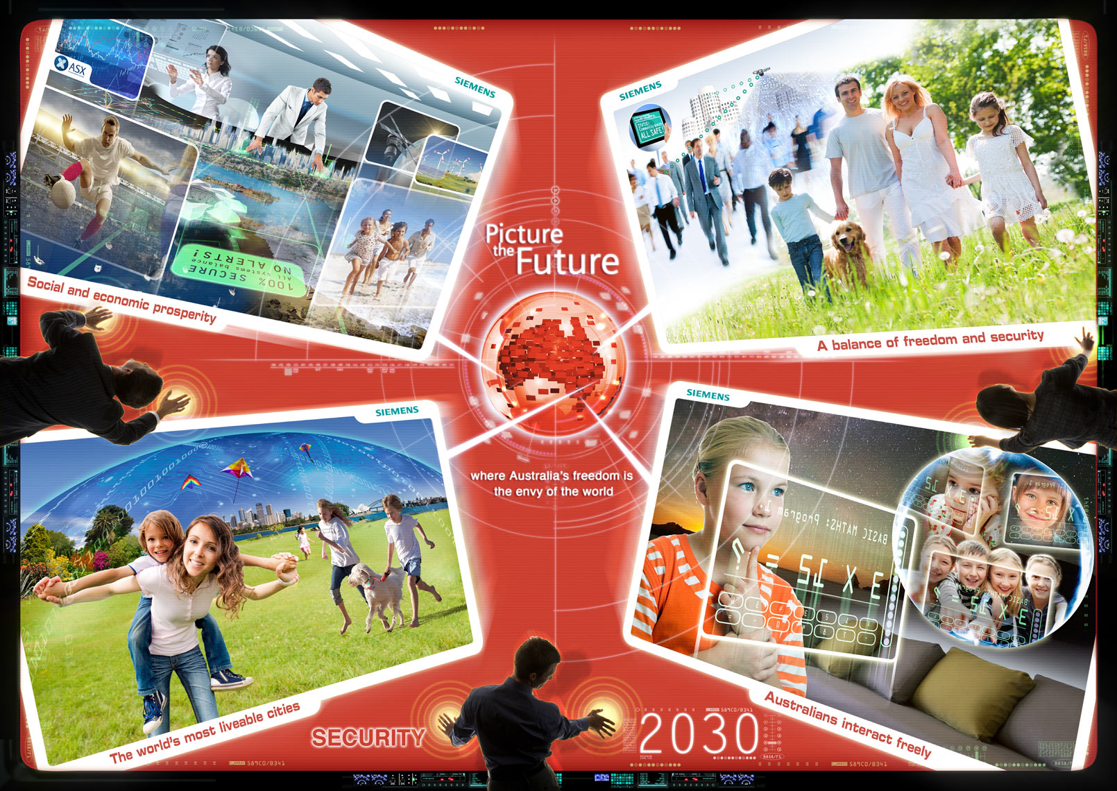 Security - Siemens Picture the Future communication design photoshop expert