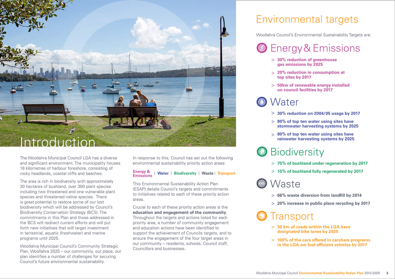 p3 Woollahra_ESAP (cover) Sustainable environmental communication design