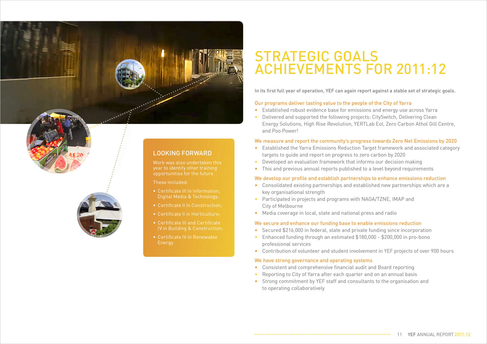 pg 11 Designed by Shane Nagle YEF Yarra Energy Foundation Annual Report 2012