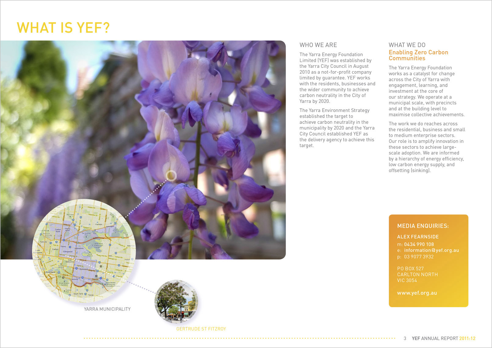 Designed by Shane Nagle YEF Yarra Energy Foundation Annual Report 2012