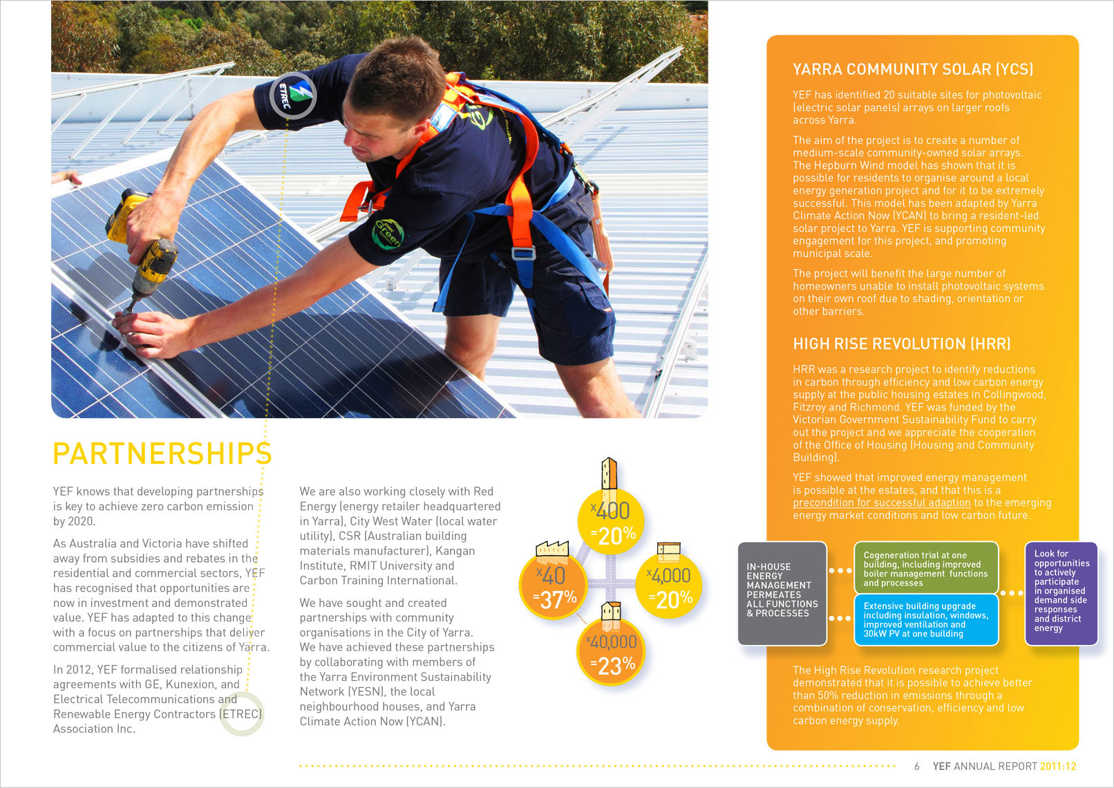 p7 Annual Report design by Shane Nagle. YEF Yarra Energy Foundation Annual Report 2012