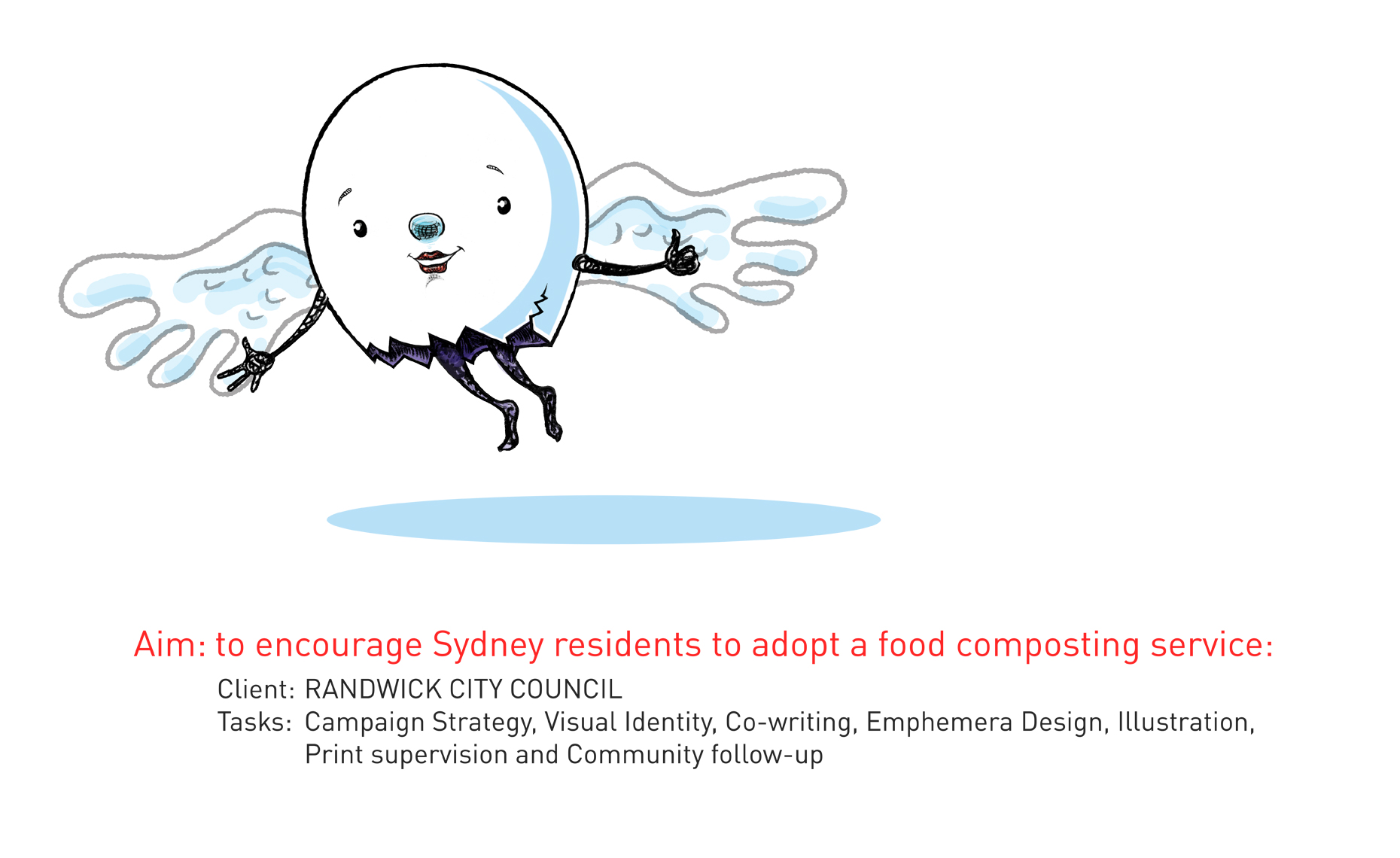 gfsf-Postcards- Sustainable environmental communication design- Shane Nagle Randwick Council Food Scraps Collection campaign